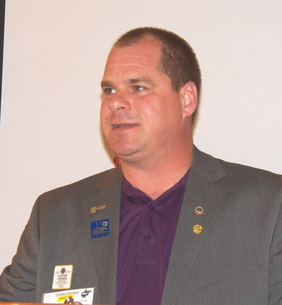Fletcher Stevens of Morristown was elected 1st Vice District Governor
