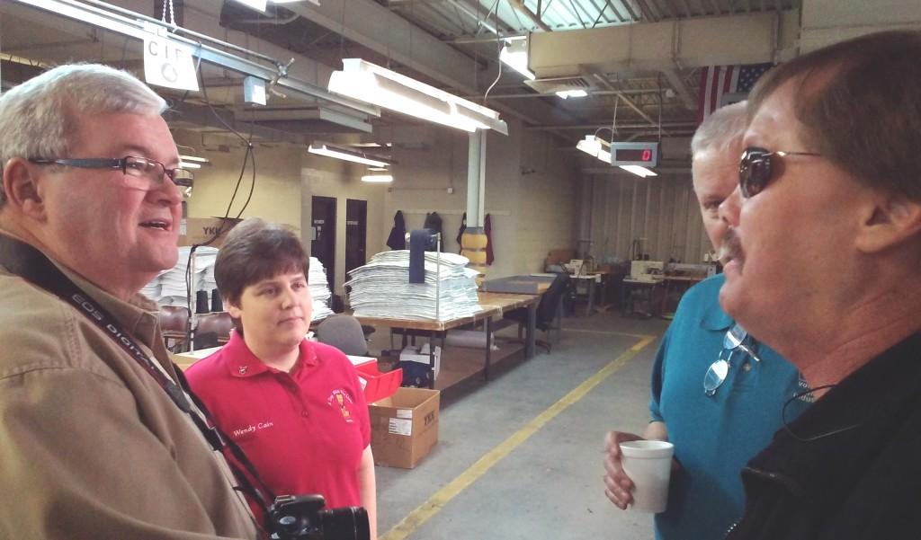 International Director Steve Glass of West Virginia visited Volunteer Blind Industries with PDF Wendy Cain