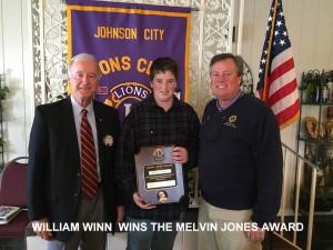 WILLIAM WINN RECIEVES THE MELVIN JONES AWARD